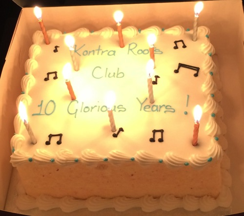 10th Anniversary cake Kontra Roots Club 23/9/16
