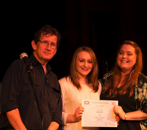 Song Contest winner Amy Addison with Kev Buxton & Marie-Claire Berreen Potbelly Folk, Blues & Roots Festival 17/10/15